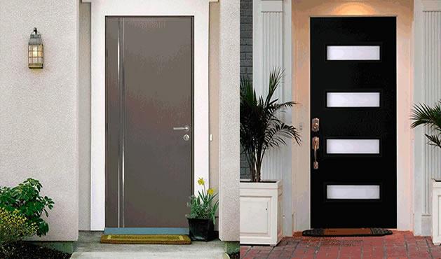 Puertas para entradas principales exterior acero venta for Colores para puertas exteriores