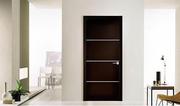 Puertas de madera para interior minimalistas for Colores para puertas exteriores
