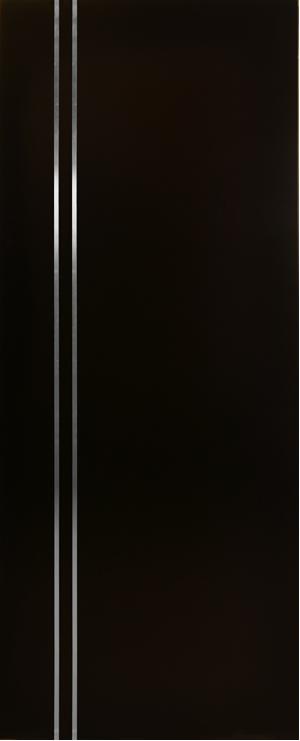 puerta para exterior chocolate con lneas de aluminio vertical