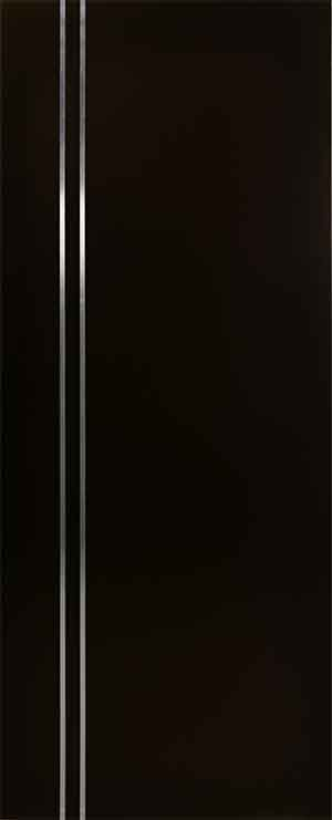 Puerta minimalista con lineas de aluminio vertical para for Puertas de madera interiores minimalistas
