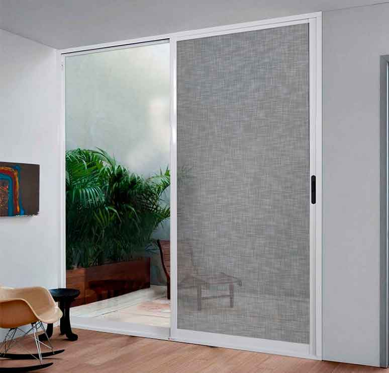Puerta corrediza de aluminio perfil 2 pulgadas for Modelos de puertas corredizas de madera